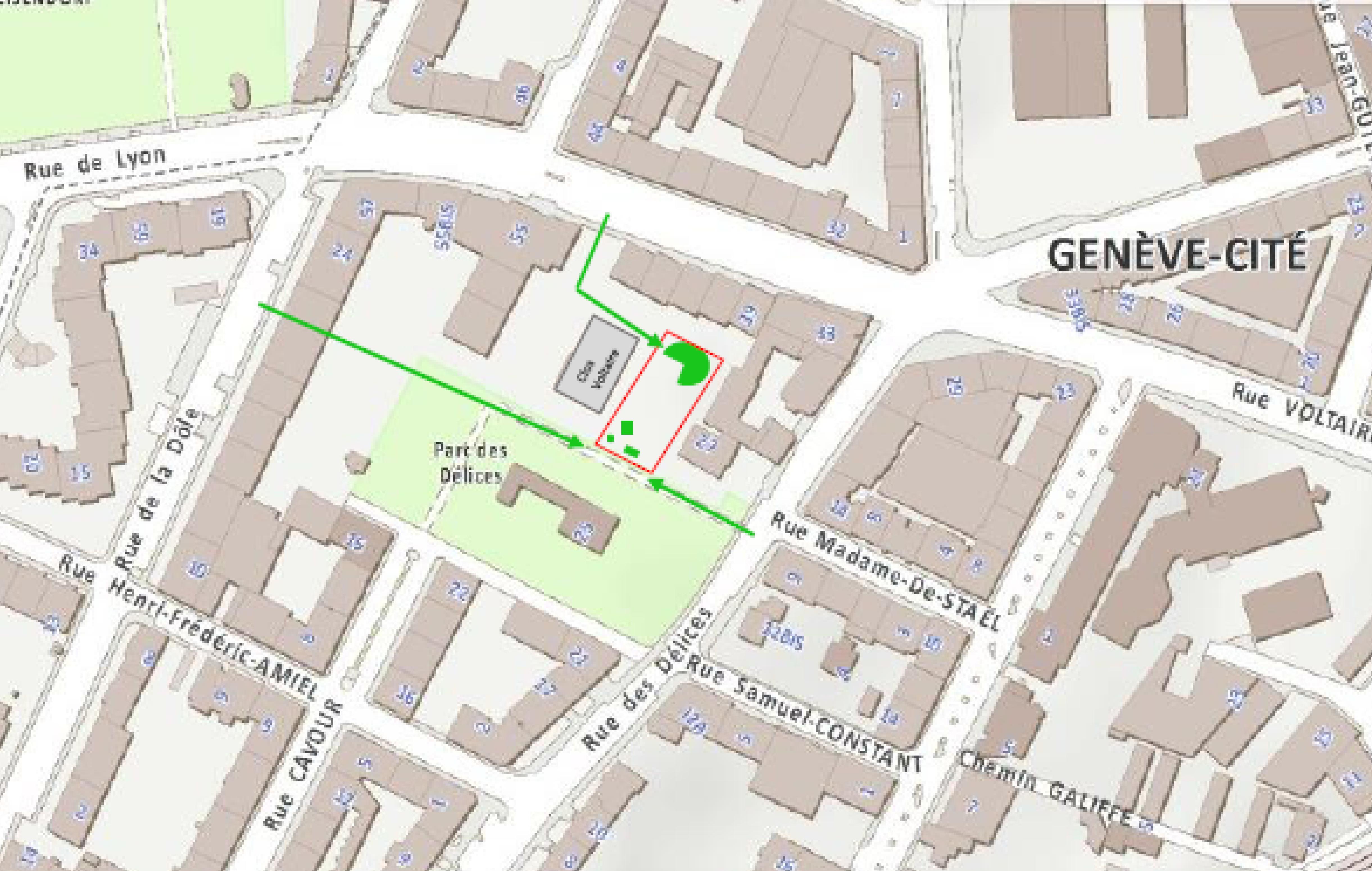 plan d'acces les jardins dd